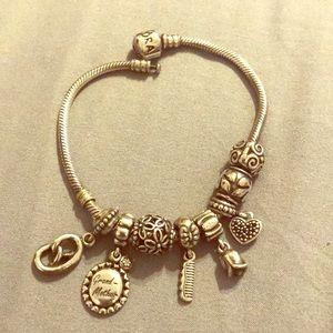 EUC PANDORA Bracelet with Beads